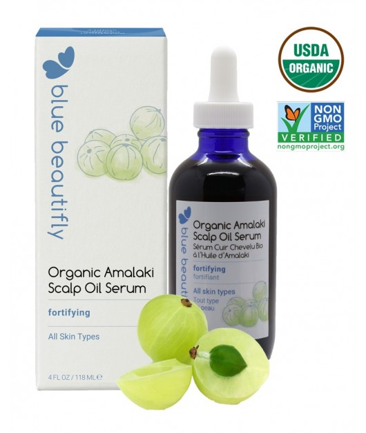 AMALAKI Organic Scalp Oil Serum: Blue Beautifly