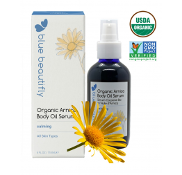 ORGANIC ARNICA body Oil: Blue Beautifly