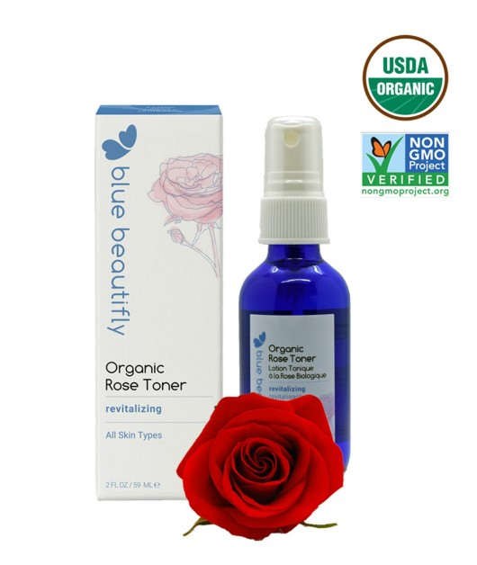 Organic Rose Toner: Blue Beautifly
