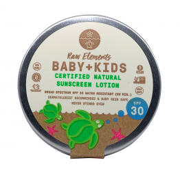"""BABY & KIDS"" sunscreen SPF30 (in a plastic free tin): Raw Elements"