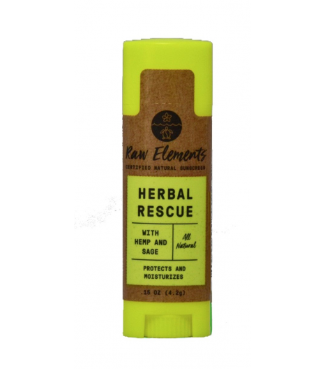 """HERBAL RESCUE"" baume réparateur pour les lèvres: Raw Elements"