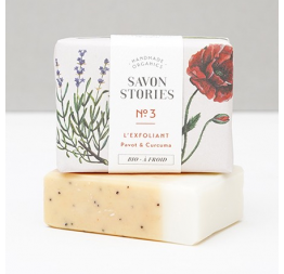 """N°3 POPPY SEED BAR SOAP"" with lavender & lemongrass: Savon Stories"