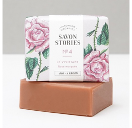 N°4 PINK CLAY REJUVENATOR BAR SOAP with rose, rose geranium & palmarosa: Savon Stories