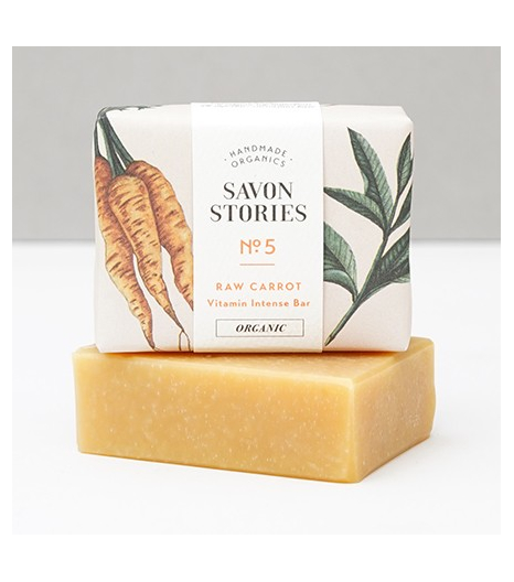 N°5 RAW CARROT BAR SOAP with verbena: Savon Stories