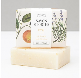SAVON BIO N°6 DOUX à la lavande, patchouli & orange: Savon Stories