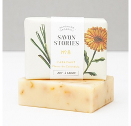 N°8 CALENDULA BAR SOAP with lemongrass: Savon Stories