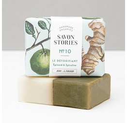 N°10 SPINACH GREEN DETOX BAR SOAP with lime, ginger & lemon verbena