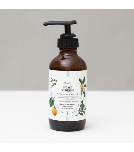 FACE WASH OILY SKIN with Bergamot, Grapefruit, Lemongrass & Neroli: Savon Stories