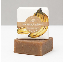 NORMAL HAIR BANANA SHAMPOO BAR whole banana with jojoba oil : Savon Stories