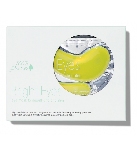 """BRIGHT EYE MASK"" hydrating eye mask (5 pack): 100% Pure"
