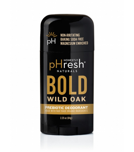 """""""BOLD WILD OAK"""" richly woodsy with warm spicy notes of cedarwood and balsam deodorant for men: Honestly pHresh"""