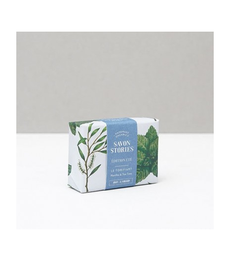 """""""SUMMER EDITION BAR SOAP"""" with peppermint & tea tree: Savon Stories"""