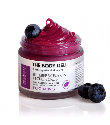 """BLUEBERRY FUSION SCRUB"" Gommage aux myrtilles: The Body Deli"