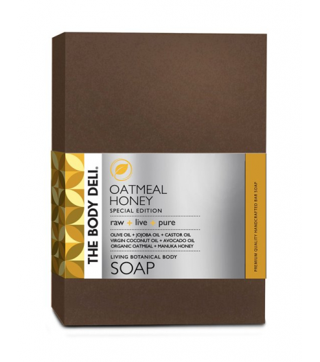 OATMEAL AND HONEY botanical bar soap: The Body Deli