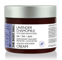 LAVENDER CHAMOMILE hand & body cream: The Body Deli