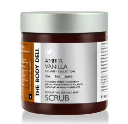 AMBER VANILLA body scrub: The Body Deli