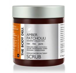 AMBER PATCHOULI body scrub: The Body Deli