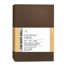 COCONUT CREME botanical bar soap: The Body Deli
