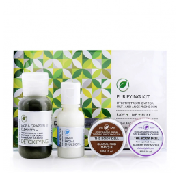 """PURIFYING KIT"" trousse de voyage soins visage purifiants: The Body Deli"