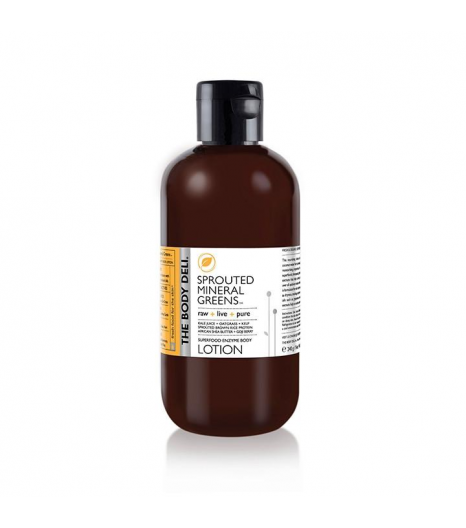 """""""SPROUTED MINERAL GREENS"""" lotion détox pour le corps: The Body Deli"""