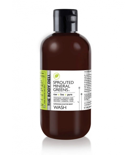 """""""SPROUTED MINERAL GREENS"""" gel douche détox corps: The Body Deli"""