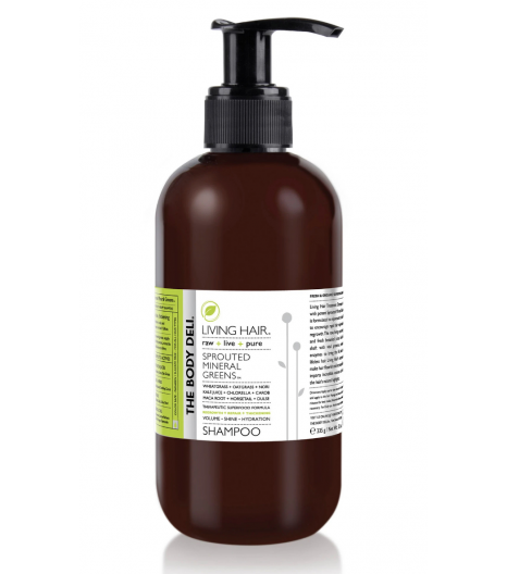 """LIVING HAIR"" shampoo for thickening, regrowth, shine & volume: The Body Deli"