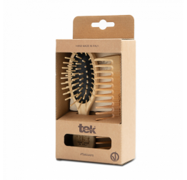 Purse brush and comb in natural wood: Tek