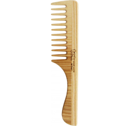 Comb with wide teeth and handle in natural wood: Tek