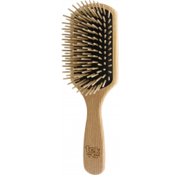 Big paddle brush in natural wood with long pins: Tek