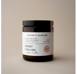 """ORANGE VANILLA"" body polish: Rachel's Plan Bee"