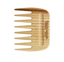 Pic comb for curly and wavy hair in natural wood: Tek