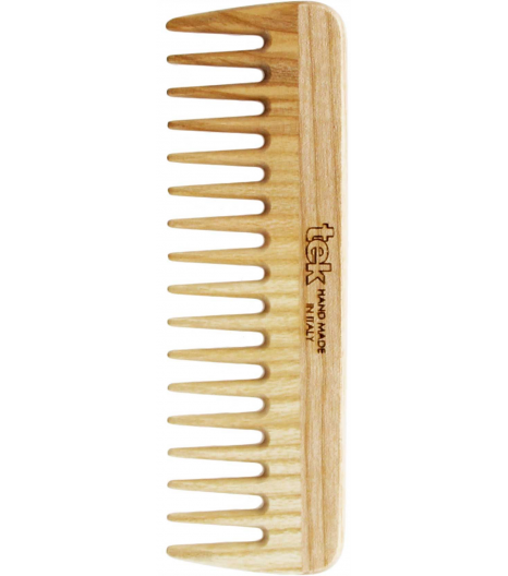 Small comb with wide teeth in natural wood: Tek