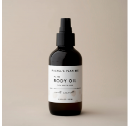 """SWEET COCONUT"" body oil: Rachel's Plan Bee"